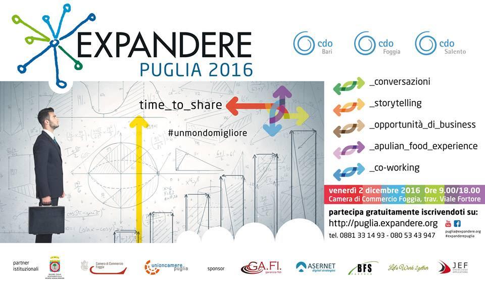 Torna Expandere Puglia 2016, Asernet ci sarà