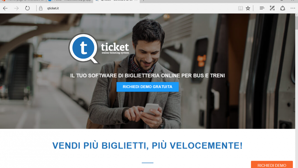 Qticket.it home page